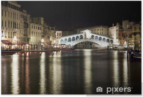 Poster Ponte di Rialto by night - Venezia - Temi