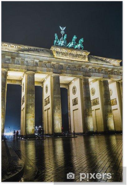 Poster Porta di Brandeburgo a Berlino, Germania - Città europee