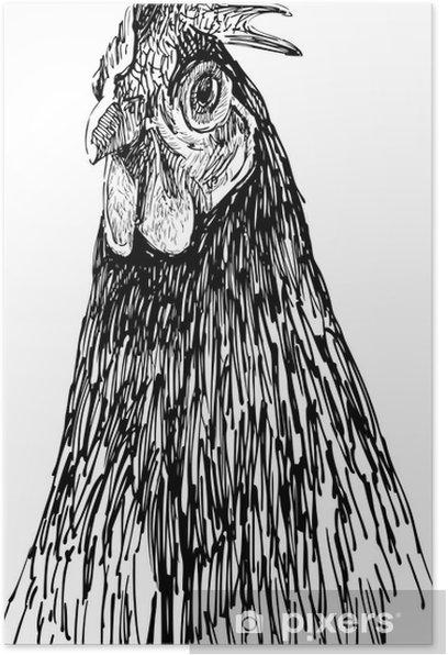 Poster Porträt von Henne - Themen