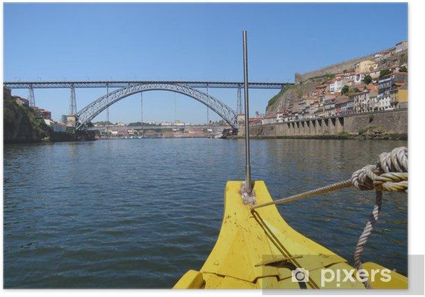 Poster Portugal - Porto - Pont Dom-Luis vu du Douro - Leben