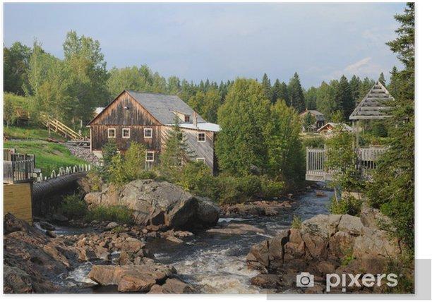 Poster Quebec, die Pioneer-Mühle in La Dore - Urlaub