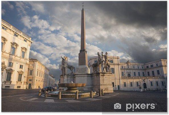 Poster Quirinale Hügel. Rom. Italien. - Themen