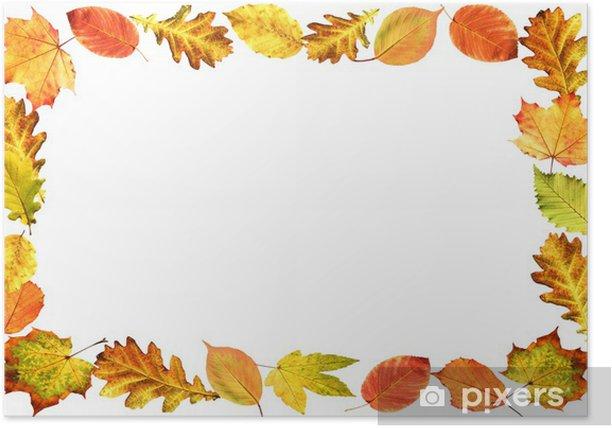 Poster Rahmen, Herbstlaub - Bäume