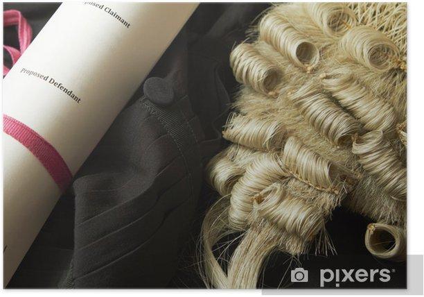 Poster Rechtliche Still Life Of Barrister Perücke, Kleid und Kurz - Kriminalität und Gewalt