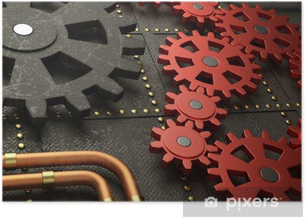 Poster Red Räder Steampunk-Maschine - Steampunk