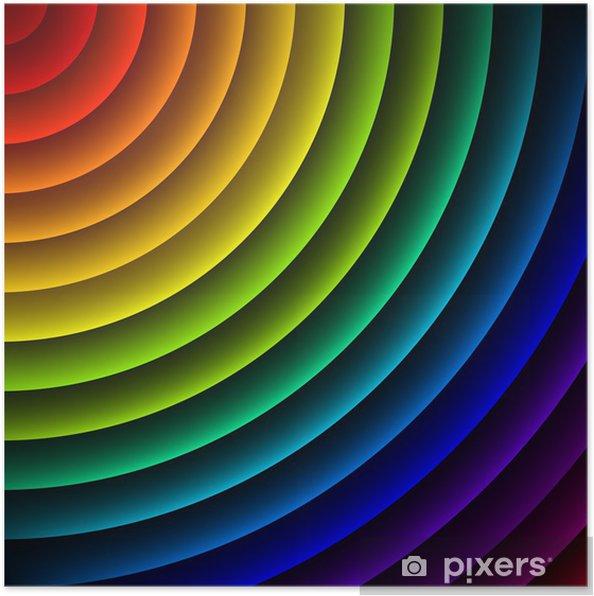 Poster Regenbogen-farbigen Streifen abstrakte Vektor-Hintergrund - Religion