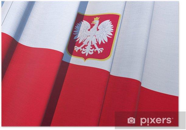 Poster Republik Polen Flagge - Themen