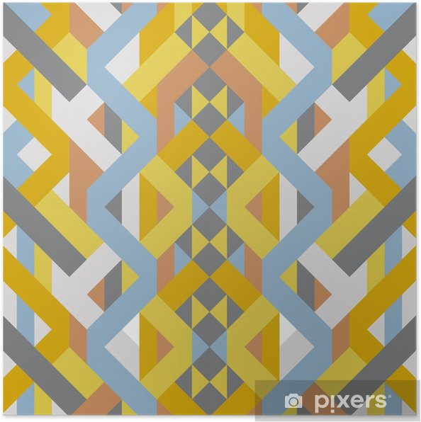 Poster Retrò pastello di arte modello di stile deco geometrico astratto - Risorse Grafiche