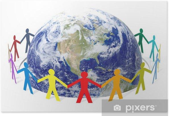 Poster Rette die Welt - Menschen
