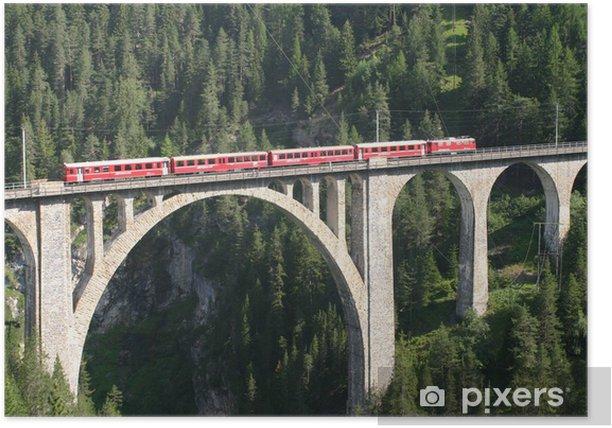 Poster Rhätische Bahn - Wiesener Viadukt - Europa