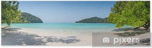 Poster Riesige Panorama wilden tropischen Strand. Turuoise Meer bei Surin Meeres - Themen