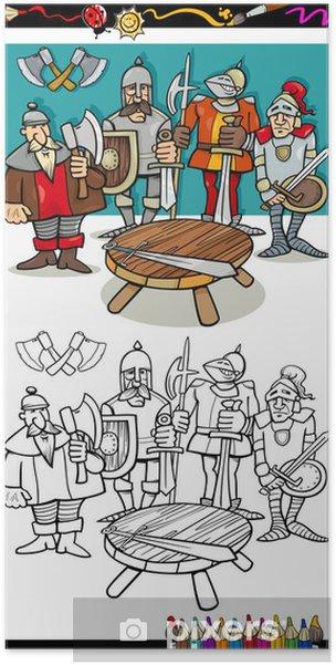 Poster Ritter Der Tafelrunde Ausmalbilder