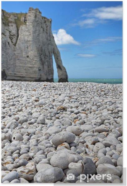 Poster Rocks von Etretat - Natur und Wildnis