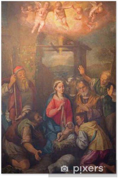 Poster Roma - Adorazione dei pastori dipingere in chiesa Chiesa Nuova - Edilizia e Architettura