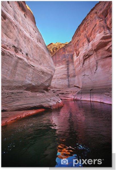 Poster Rosa Antelope Slot Canyon Reflection Lake Powell Arizona - Amerika