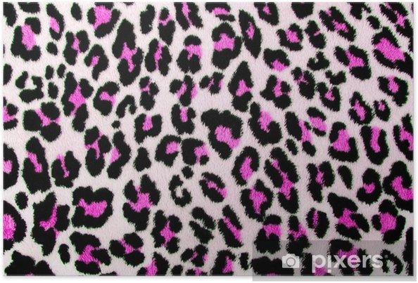 Poster Rosa Leopardo Nero Patternspotted Pelliccia Animal Print