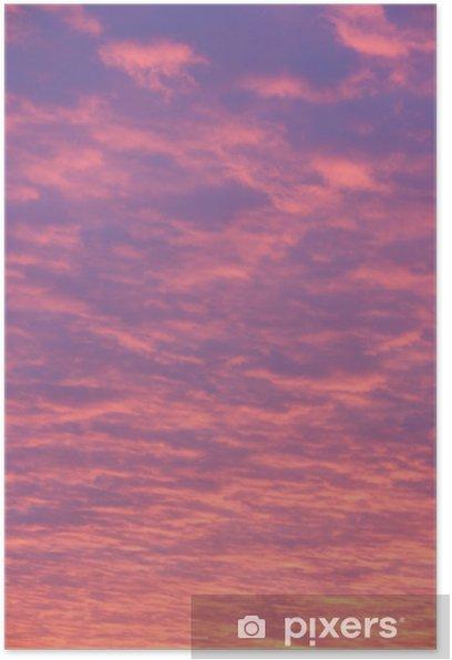 Poster Rosa und lila Wolken bei Sonnenuntergang - Themen