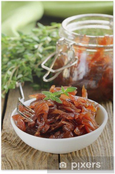 Poster Rosso marmellata di cipolla con timo cucina francese • Pixers ...