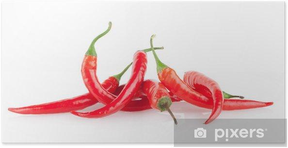 Poster Rote Chilischoten - Gemüse