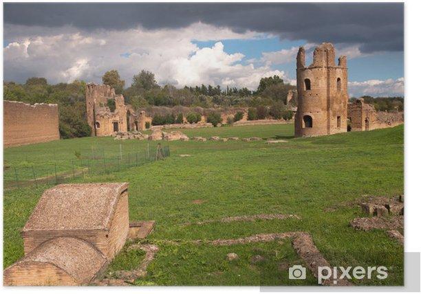 Poster Ruinen aus dem Circus des Maxentius in Rom - Italien - Themen