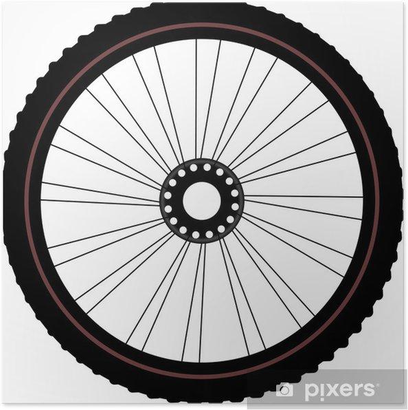 Poster Ruota di bicicletta isolato su bianco - In viaggio