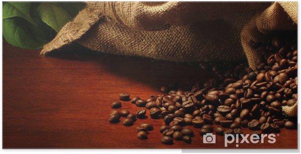 Poster Säcke mit Kaffeebohnen - Themen