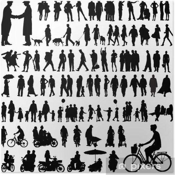Immagini Sagome Persone.Poster Sagome Di Persone