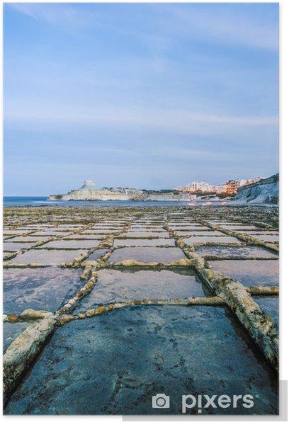 Poster Salinen in der Nähe Qbajjar in Gozo, Malta. - Europa