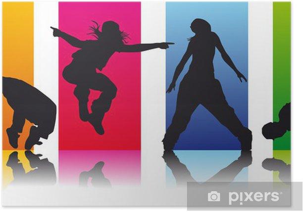 Poster Satz 2 Breakdancer - Einzelsportarten