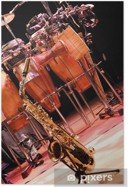 Poster Saxophon und Percussion - Musik