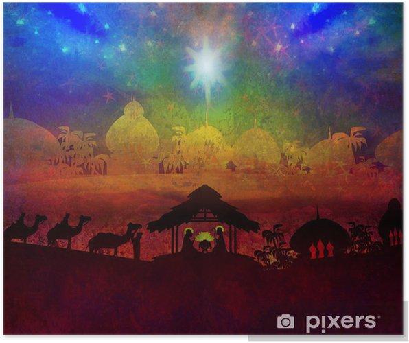 Poster scena biblica la nascita di gesù a betlemme. u2022 pixers