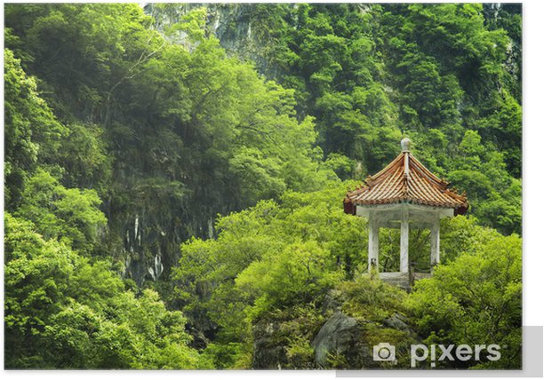 Poster Scenic Fleck an Taiwan. - Asien