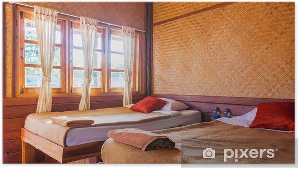 Poster Schlafzimmer in Hütte Resorthotel