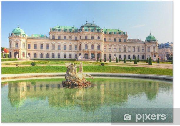 Poster Schloss Belvedere in Wien, Österreich - Europa