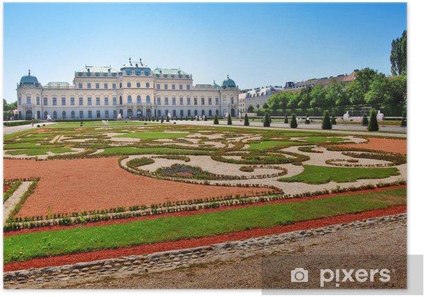 Poster Schloss Belvedere in Wien, Österreich - Europäische Städte