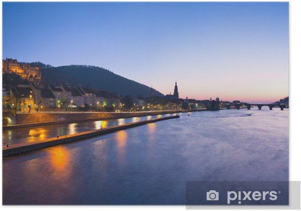 Poster Schlossbeleuchtung - Europa