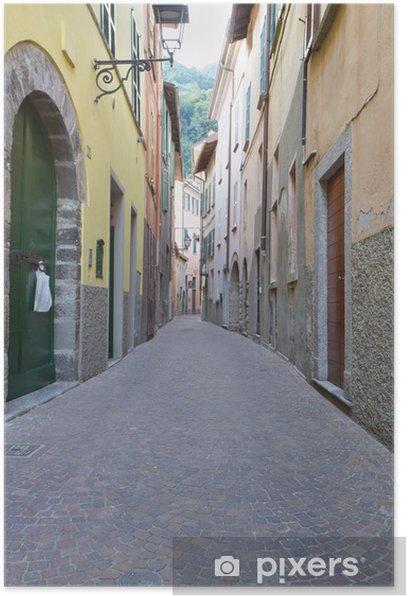 Poster Schmale Gasse in Torno, Italien - Themen