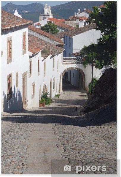 Poster Schmale Straße in Dorf Marvao (Portugal) - Europa