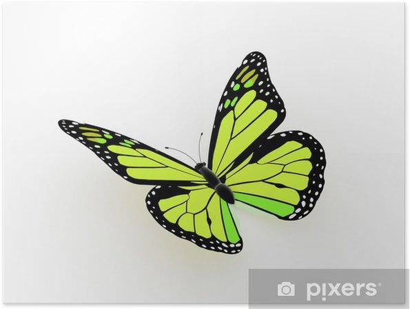 Poster Schmetterling gemacht gelb - Geschäftskonzepte