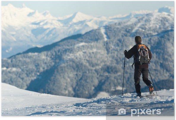 Poster Schnee belledonne - Urlaub