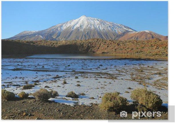 Poster Schneebedeckten Mount Teide, Teneriffa - Berge