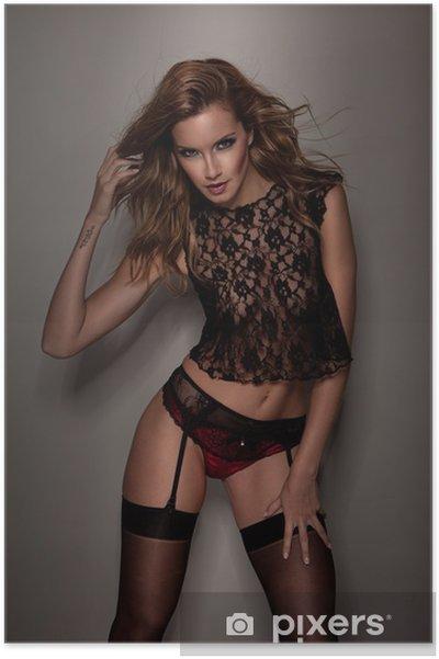 e58e3385b47 Poster Schöne Frau in sexy Dessous • Pixers® - Wir leben