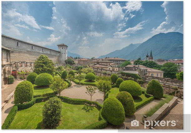 Poster Schöne italienische Garten von oben - Jahreszeiten