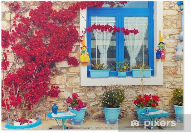 Poster Schöne Nahaufnahme von einem traditionellen Mittelmeerhaus. - Themen