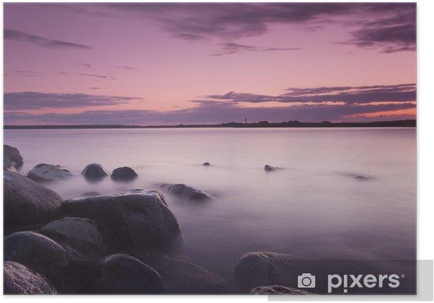Poster Schöne sundawn von der schwedischen Küste, Weitwinkel-Foto - Themen