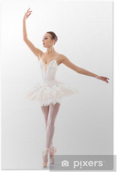 Poster Schöne und wunderschöne Ballerina in ballete stellen - Ballett