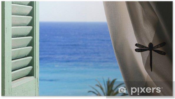 Poster Schönen Sommer Siesta - Haus und Garten