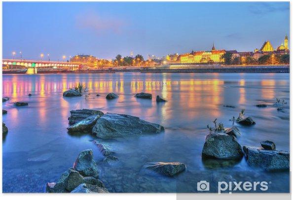 Poster Schöner Sonnenuntergang über Warsaw.HDR-high dynamic range - Themen