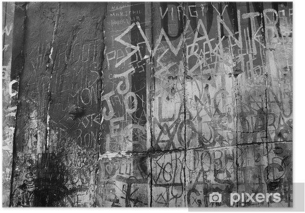 Poster Schwarz-Weiß-Graffito - Stile
