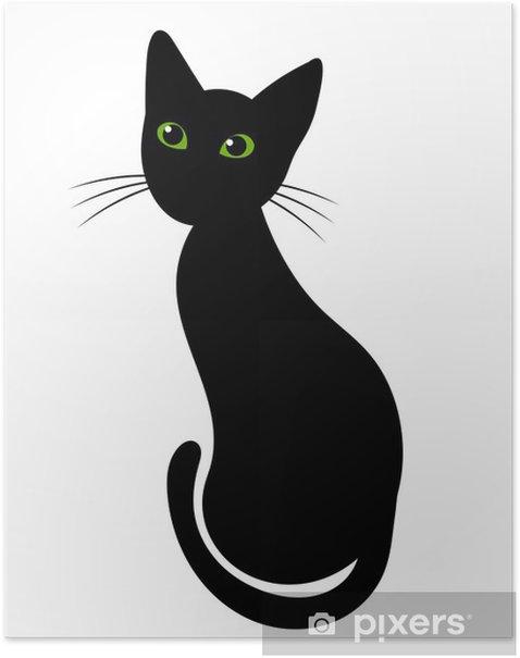 Poster Schwarze katze - Säugetiere
